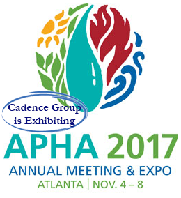 APHA 2017 Annual Meeting & Expo!  Atlanta, November 4-8, 2017. Cadence Group is Exhibiting!