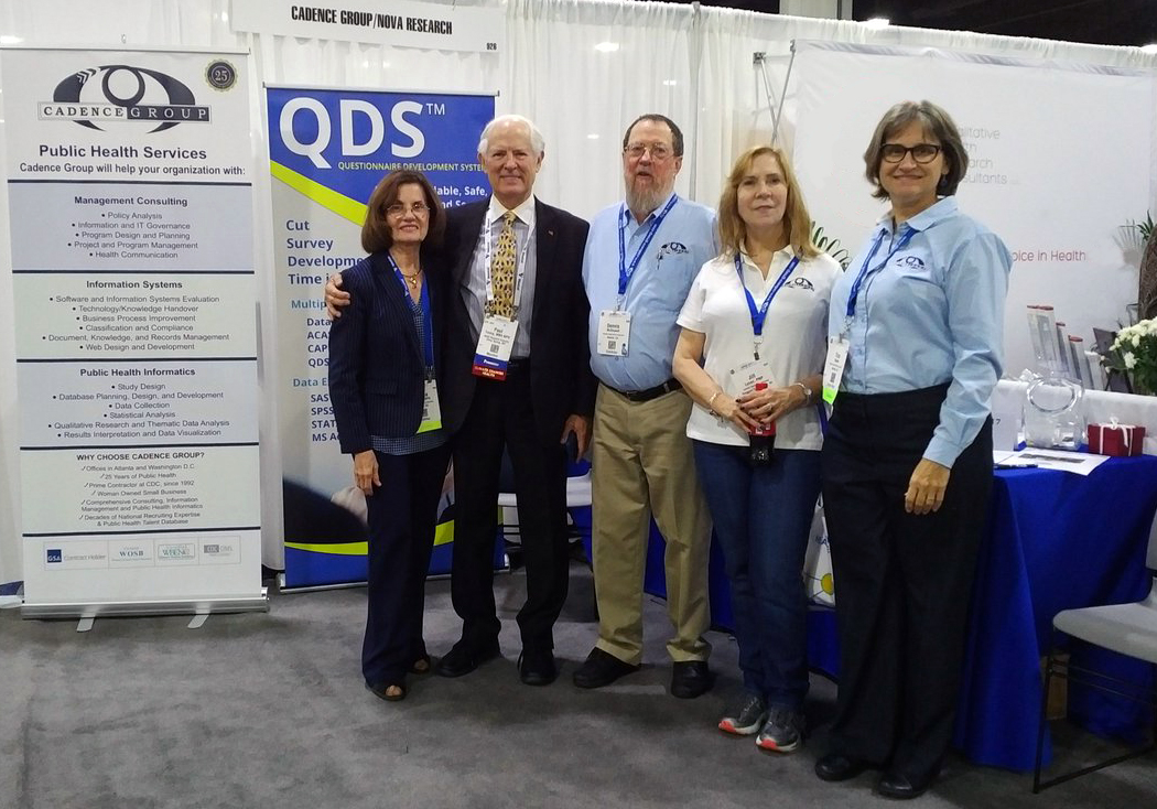 Cadence Group and NOVA Research Company Staff at the APHA Booth